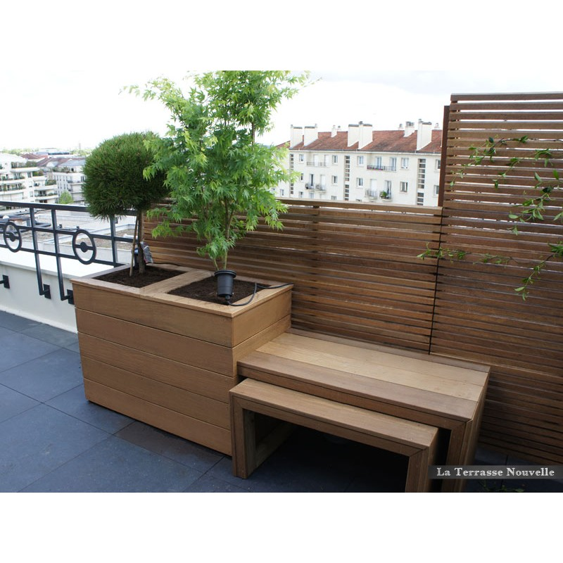terrasse bois bac fleur. Black Bedroom Furniture Sets. Home Design Ideas