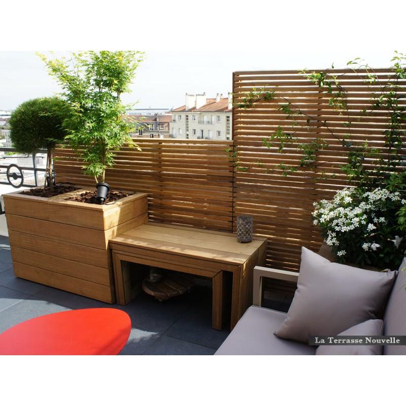 brise vue la terrasse nouvelle. Black Bedroom Furniture Sets. Home Design Ideas