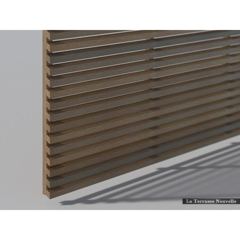 Brise vue la terrasse nouvelle for Panneau claire voie bois