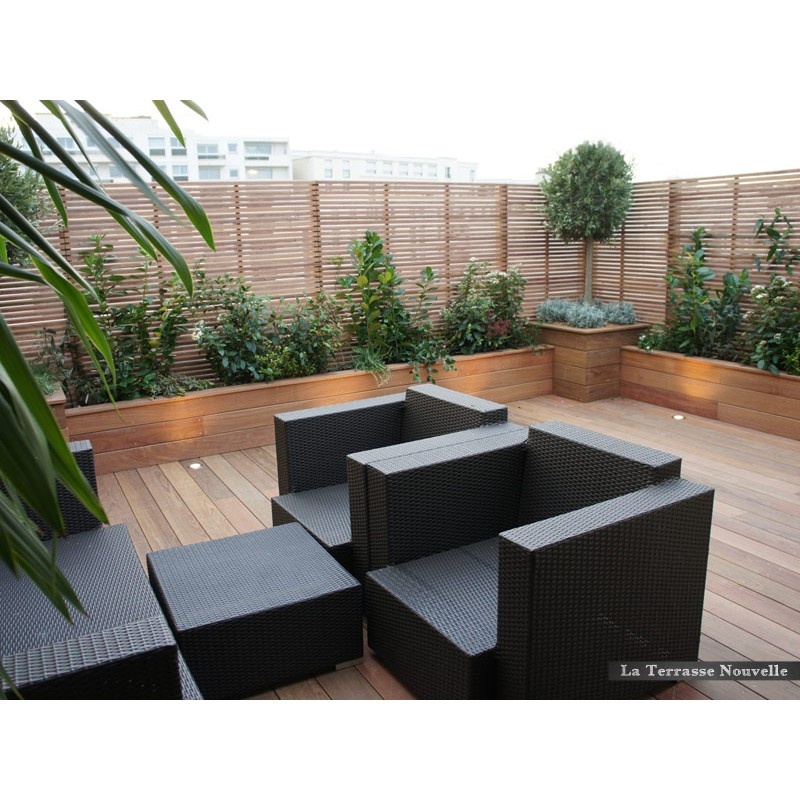 brise vue la terrasse nouvelle. Black Bedroom Furniture Sets. Home Design Ideas