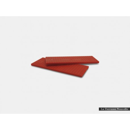 50 Cales Rouge 3mm - terrasse bois