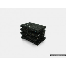 Granulé caoutchouc supérieur - 24 blocs de 9cm x 6cm