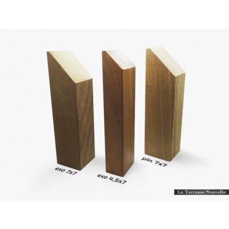 Poteau 7x7 en bois exotique